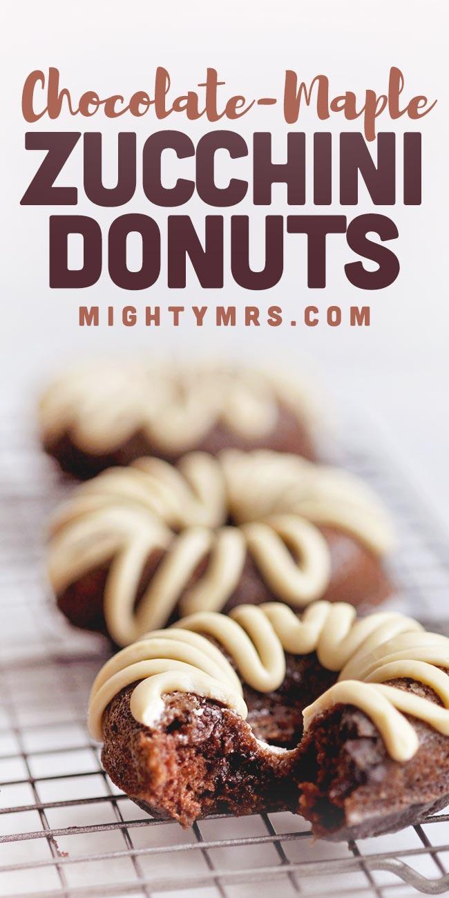 Maple Chocolate Zucchini Donuts