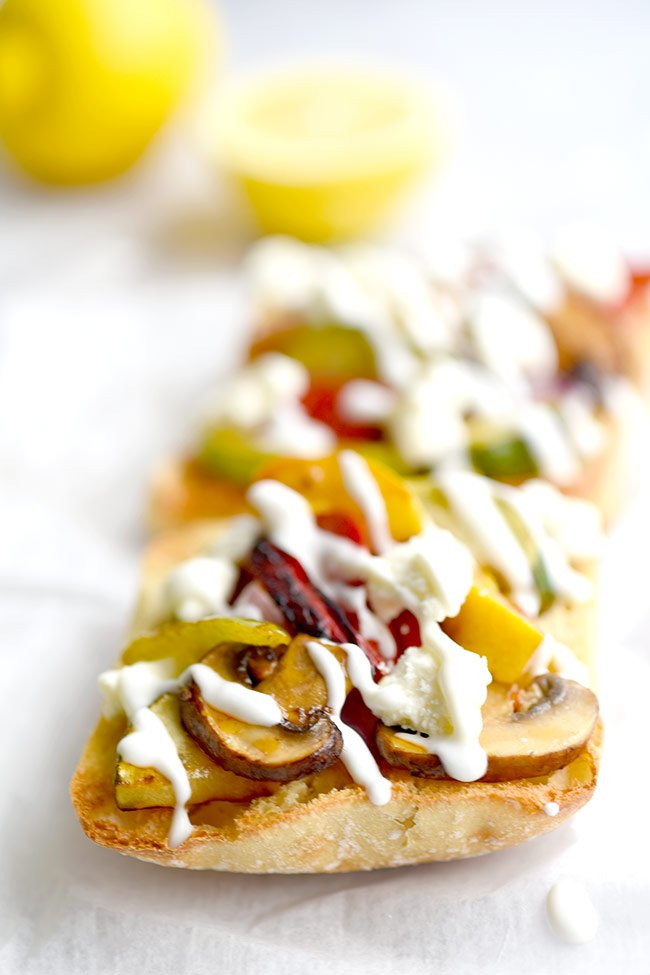 Marinated Grilled Vegetable Sandwich