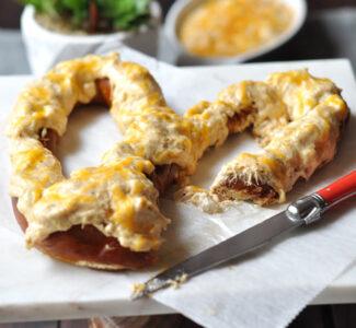 Maryland Hot Crab Dip Pretzel