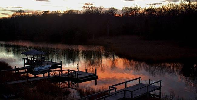 Maryland Dock at Sunrise