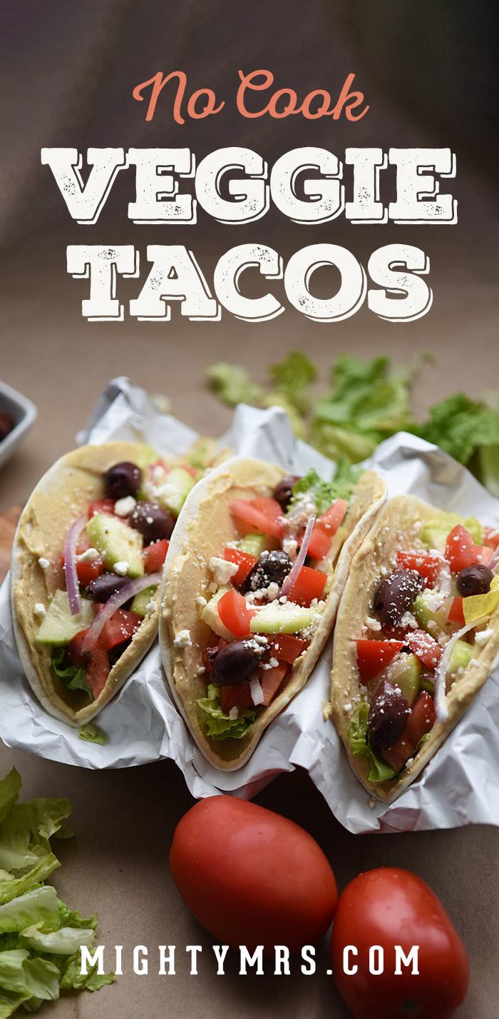 Mediterranean Veggie Tacos