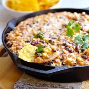 Easy Mexican Hot Bean Dip