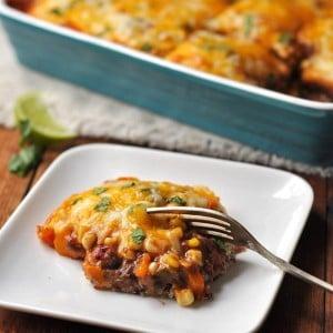 Healthy Vegetarian Mexican Quinoa Casserole