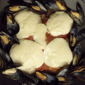 Double Baked Mussel Polenta