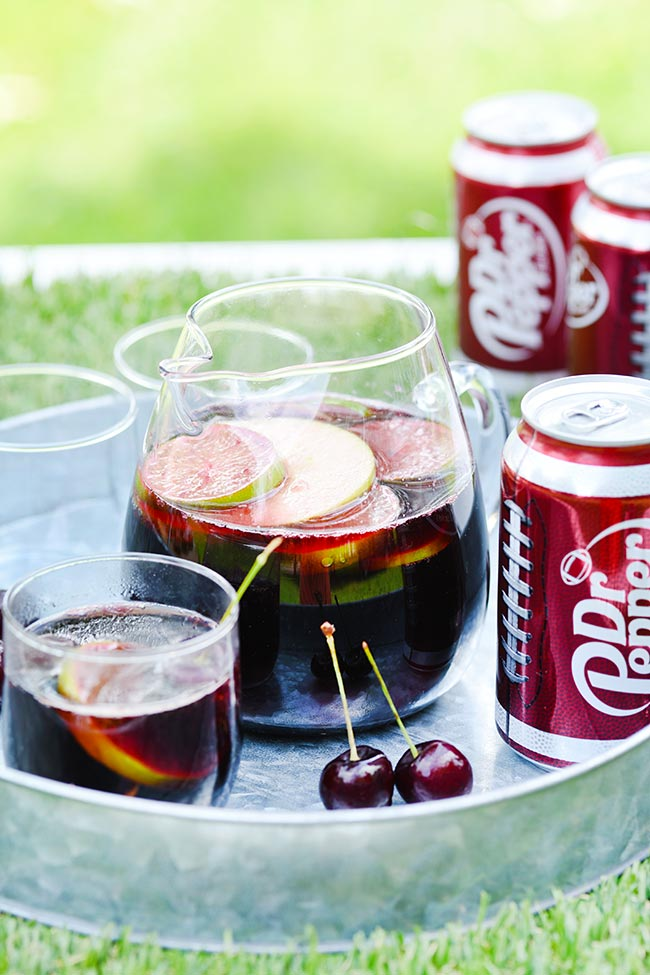 Fall Football Punch with Dr Pepper and Apple Cider
