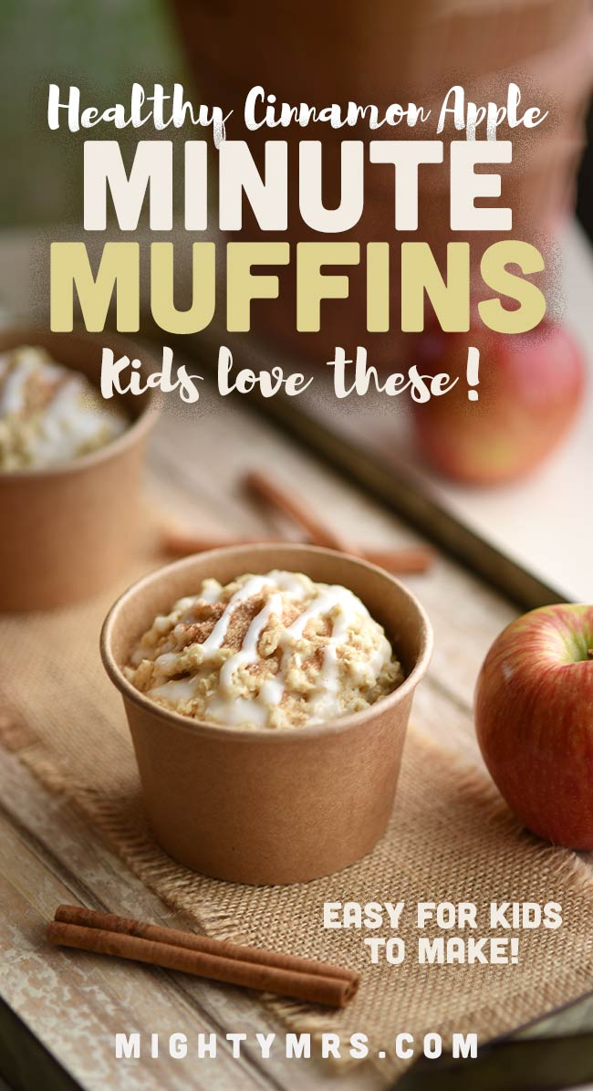 Apple Cinnamon Microwave Minute Muffins