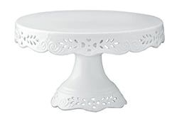 White Ceramic Cake Stand with Victorian details