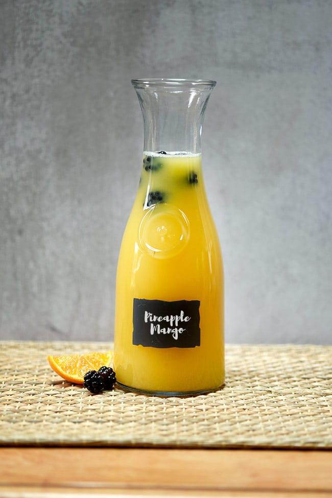 Easy Pineapple Orange Berry Agua Fresca