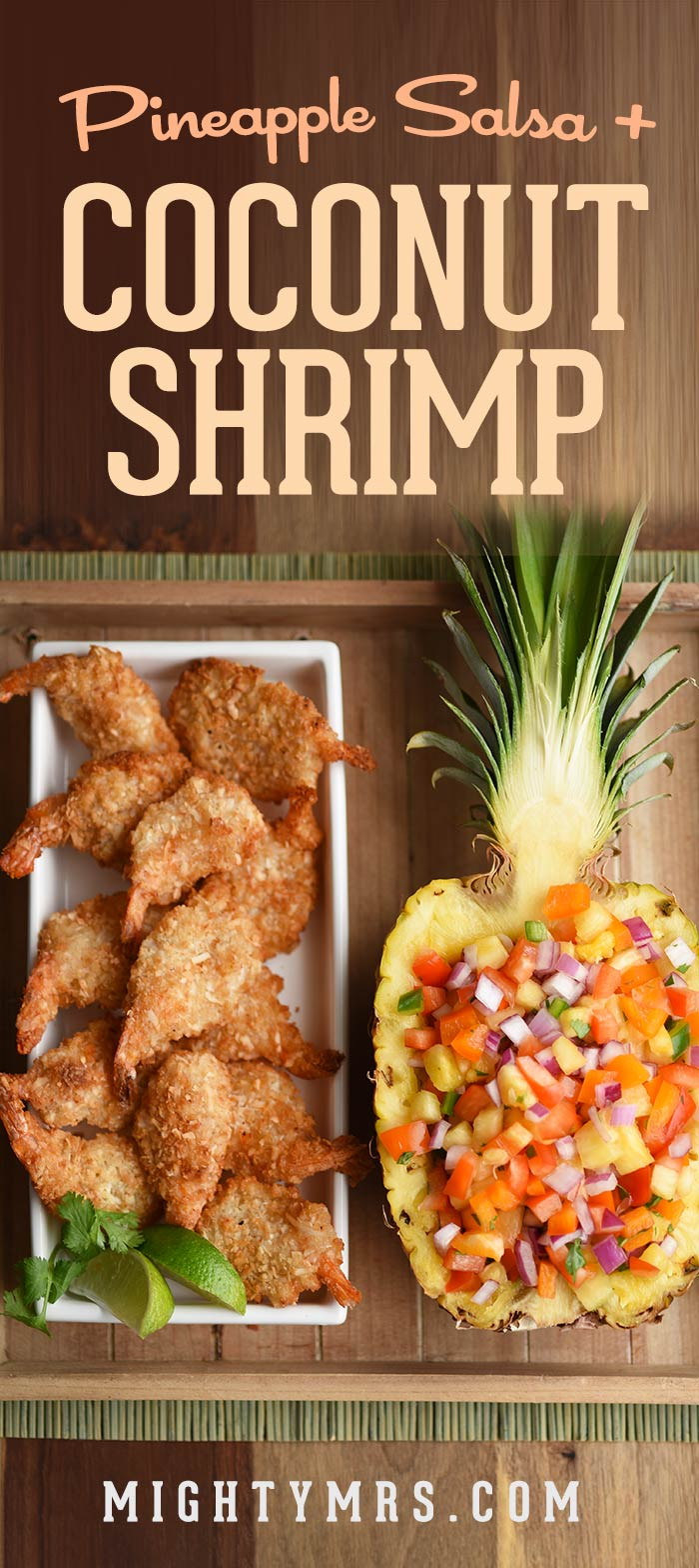 Coconut Shrimp with Pineaple Salsa