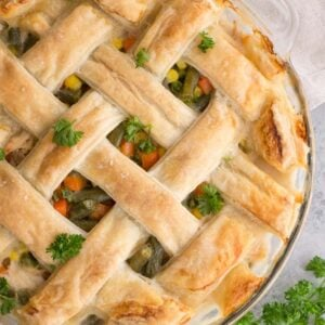 Puff Pastry Chicken Pot Pie - freezer friendly