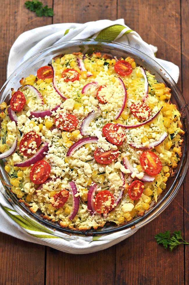 Roasted Feta Zucchini Pie