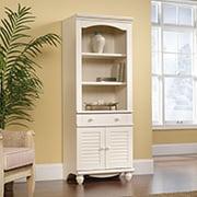 Sauder Bookcase Antique White Shelves Cabinet