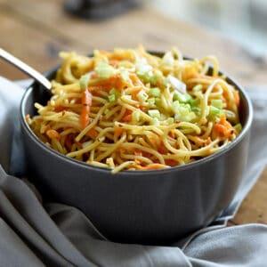 Sesame Noodles with Carrots