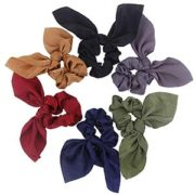 Silk Bow Scrunchies