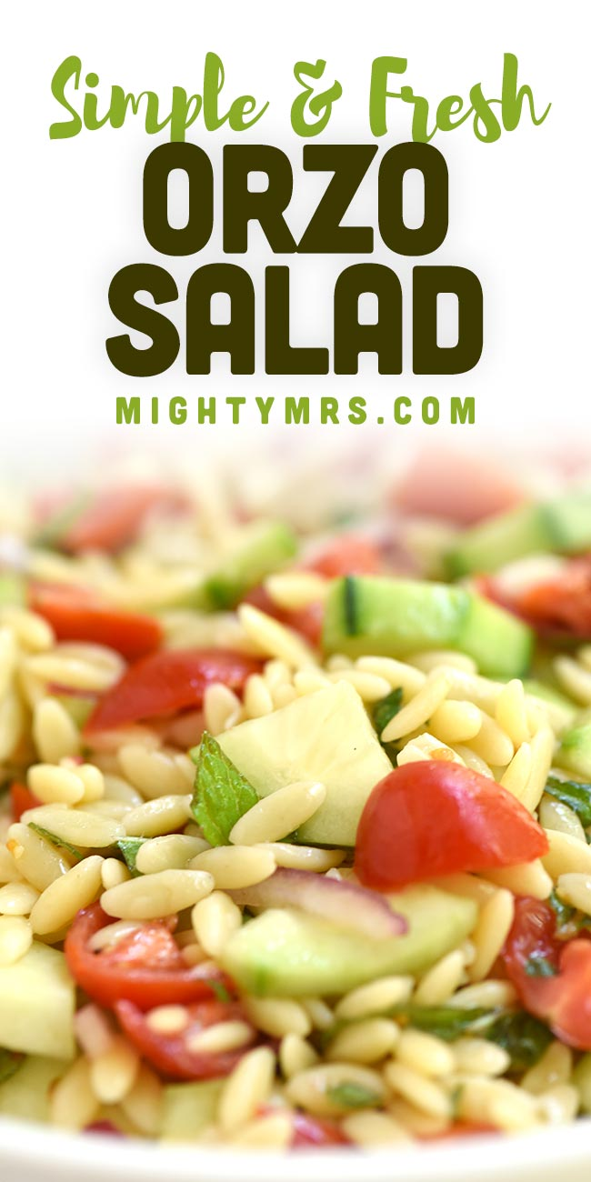 Cucumber Tomato Pasta Salad with Basil-Mint Lemon-Honey Viniagrette