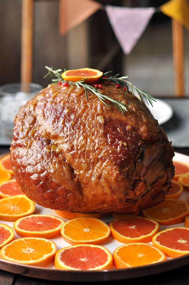 Orange-Marmalade-Glazed Ham - Easter Ham