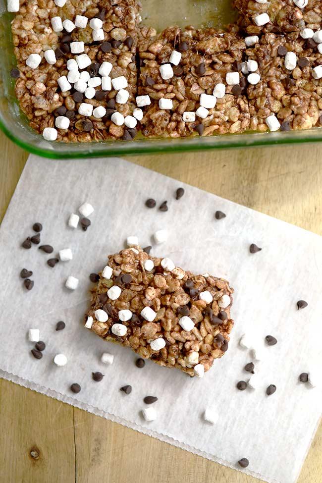 S'mores Rice Crispy & Oatmeal Treats - Homemade granola bars