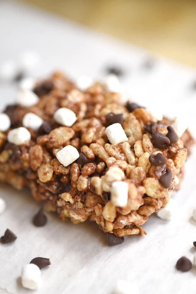 S'mores Rice Crispy & Oatmeal Treats