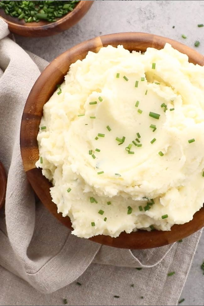 Heavenly Sour Cream and Chives Whipped Potatoes