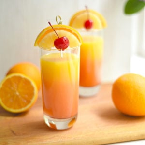 Tropical Pineapple-orange Tequila Sunrise
