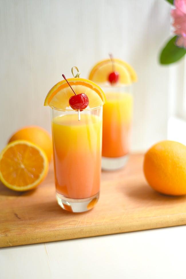 Tropical Pineapple-orange Tequila Sunrise
