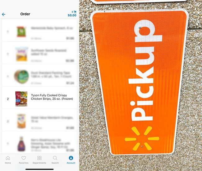 Walmart Pick Up Order