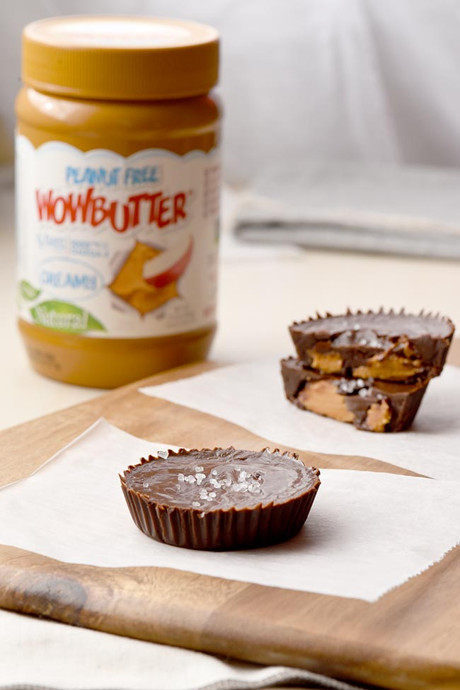 Peanut-free Soy Butter Cups with Wow Butter