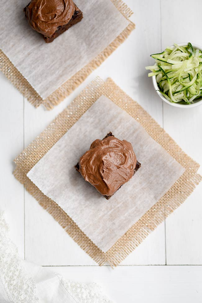 Zucchini Brownies with Chocolate Cream Cheese Frosting